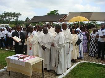 Segnung der Schule in Kumasi