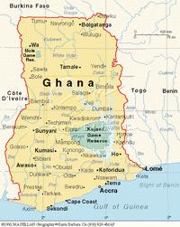 Karte Ghanas