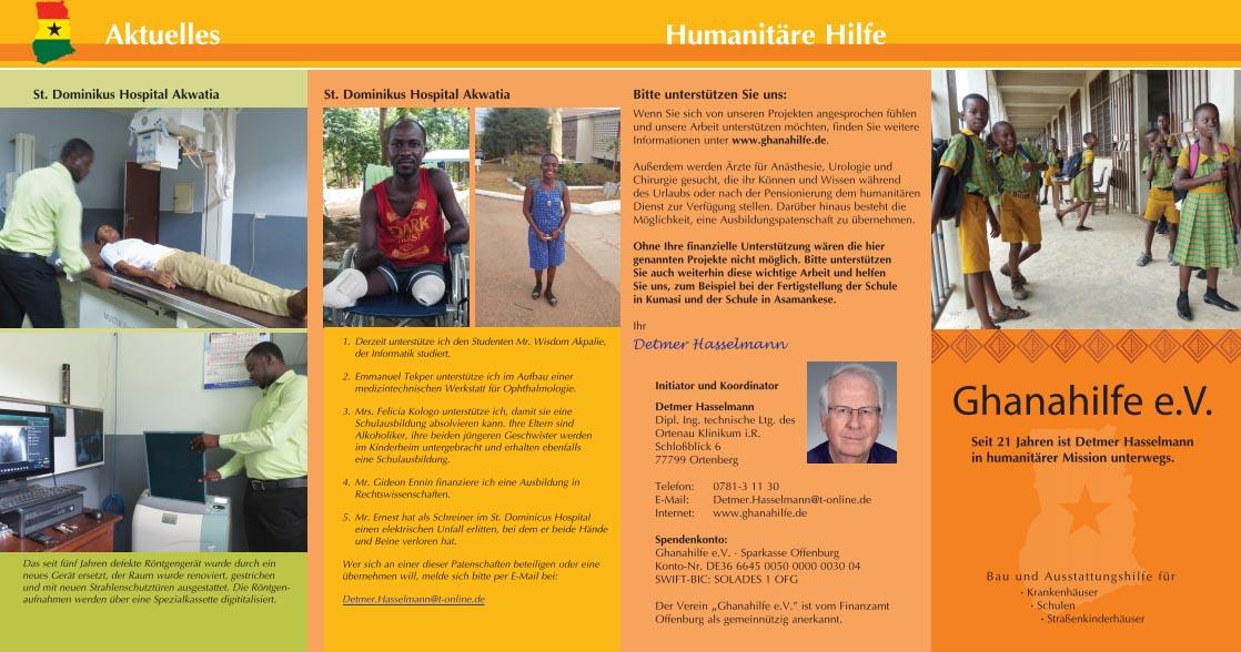 Flyer Ghanahilfe e.V. 2018